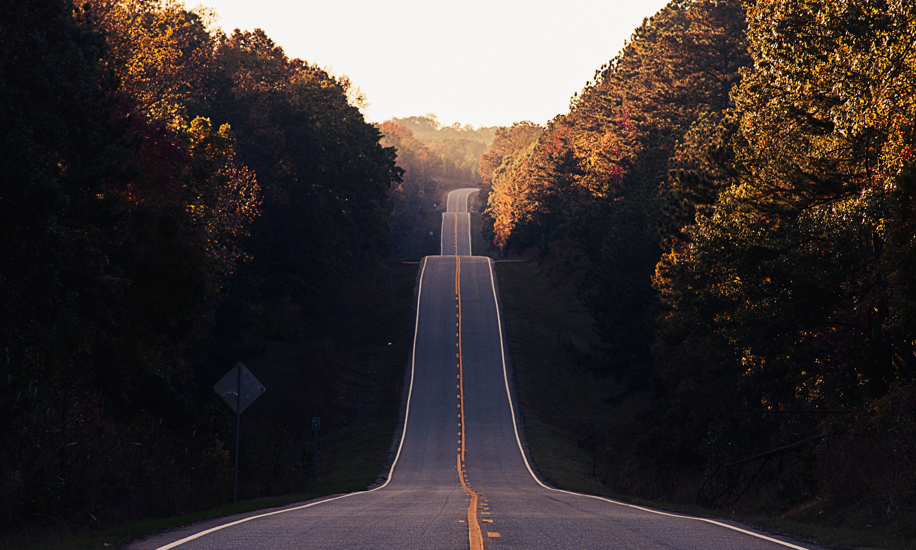 An endless highway symbolizing that DNA testing may not provide all the answers.